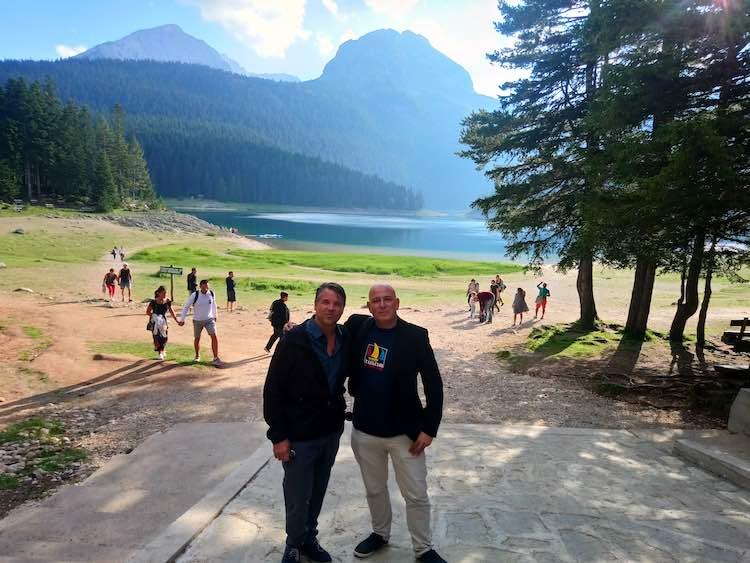Harry Mitsidis in Montenegro with Charles Veley