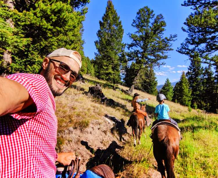 horse riding in Montana