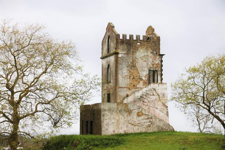 Street art on castle in Azores, Cathy Merrifield, RoarLoud