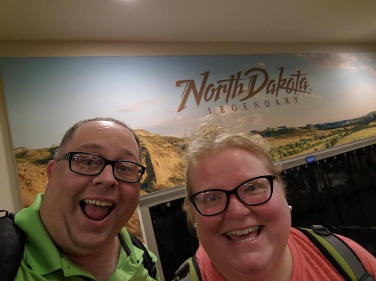 James Hills and Heather in North Dakota, ManTripping, Men Who Blog