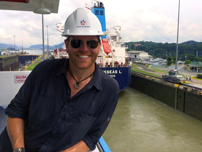 Josh Gates at Panama Canal