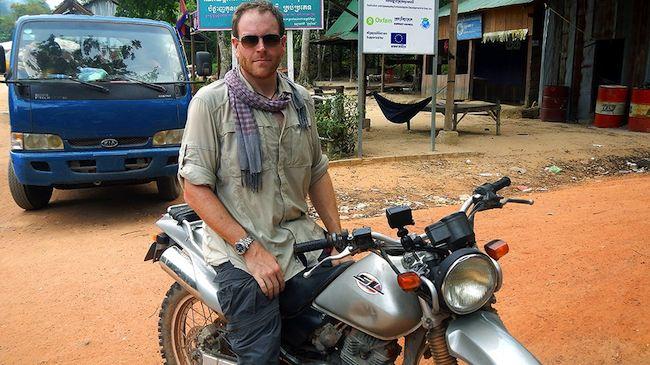 Josh Gates in Cambodia