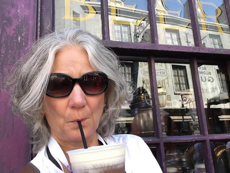 McCool Travel interview: Mary Jo Manzanares sipping butter beer