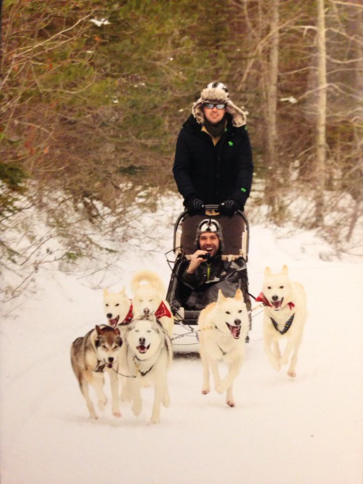 Spencer Spellman dogsledding