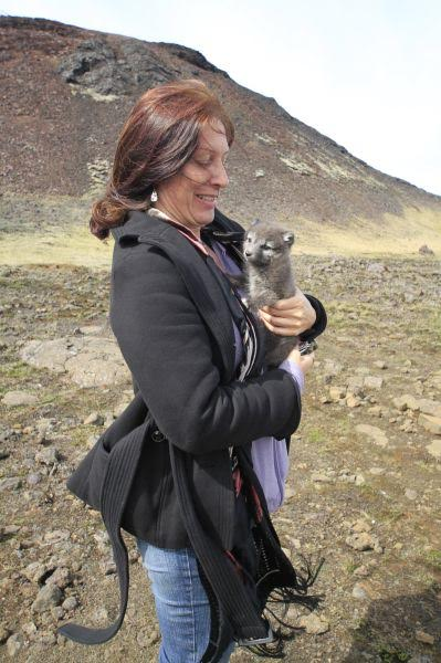 Renee Blodgett - touring inside a volcano